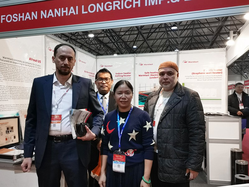 Warmtact Electrical Heating Technology presents a number of heating products at the 6th China (Kazakhstan) Trade Fair in 2019