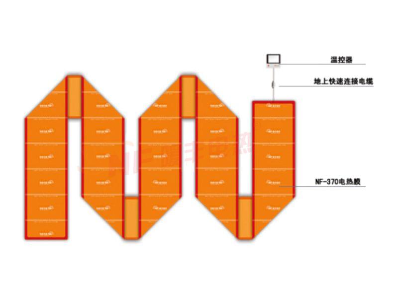 无接头式电热膜供暖系统