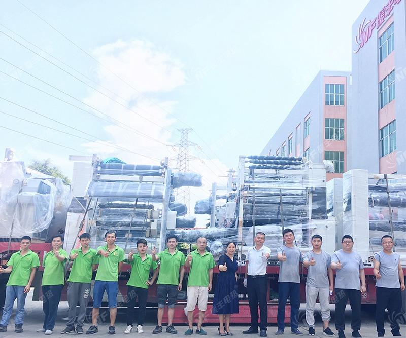 暖丰电热石墨烯电热膜生产成套设备制造完成 分三批发往宝希科技(七台河)生产基地