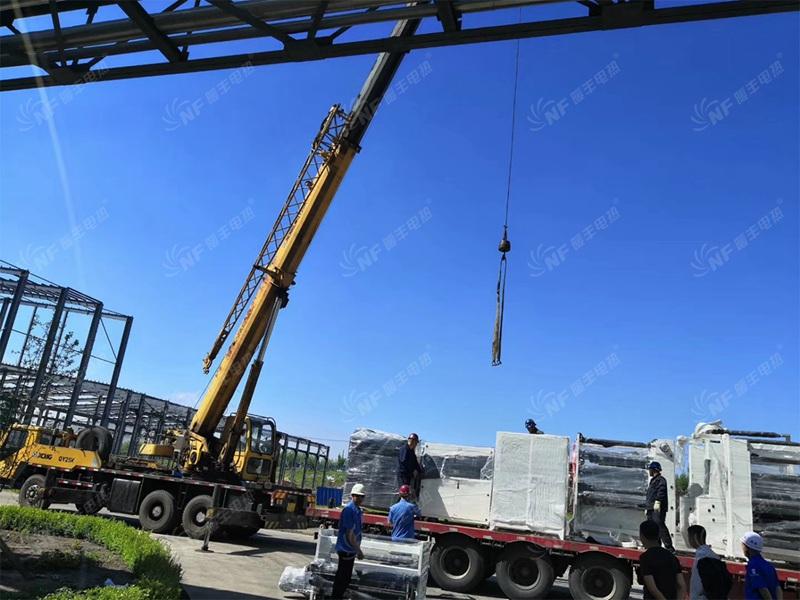 第二批设备运抵宝希科技(七台河)生产基地